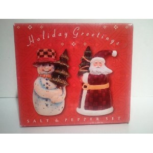 Holiday Greetings Salt and Pepper Shakers