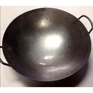 14 inch Carbon Steel Hand Hammered Wok (incl. wok ring) by Wok Shop