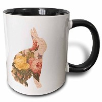 3drose PS Easter – Vintage Roses withスクリプトピーチBunny – Easter – マグカップ 11 oz ホワイト mug_110479_4