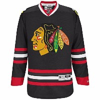 NHL Chicago BlackhawksブラックPremier Jersey 2014 – 15 – 空白 ブラック