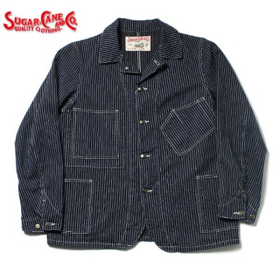No.SC14086 SUGAR CANE シュガーケーンFICTION ROMANCE8.5oz.INDIGO STRIPE WORK COAT