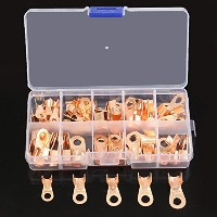 ILS - 70 pieces 10A 20A 30A 40A 50A OT Cable Wire Terminal Connector Copper Lugs