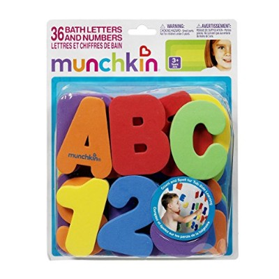 Munchkin 36-Piece Bath Letters & Numbers Set - colors as shown, one size by Munchkin