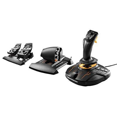 Thrustmaster T.16000M FCS HOTAS Controller+TFRP Flight Rudder Pedals ペダル2点セット販売 [並行輸入品]