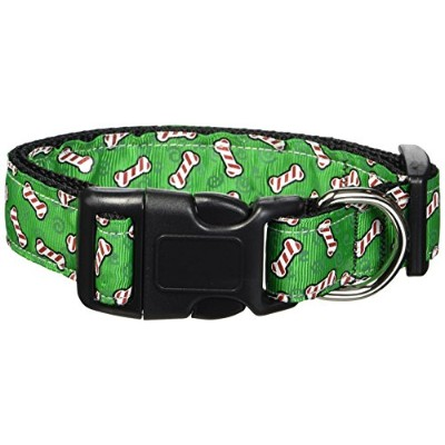 Mirage Pet Products 25-07 MD Candy Cane Bones Nylon and Ribbon Collars . Medium