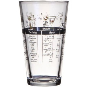 Mixed Drink Recipe Party Glass by Libbey Glassware