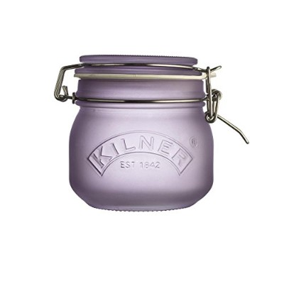 (17-Fluid Ounces Capacity, Purple) - Kilner Frosted Glass Clip Top Jar, Store Dry Foods and...