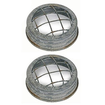 (2) - Colonial Tin Works Mason Jar Lid - Flower Frog - Barn roof Wire Set of 2. Each Lid is 7.6cm...