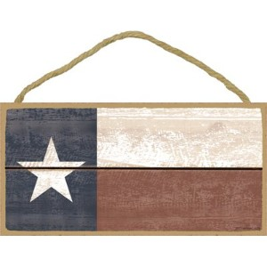 "( sjt13208 ) Texas Flag ( Faded Wood Look ) 5 "" x 10 ""木製Plaque Sign"