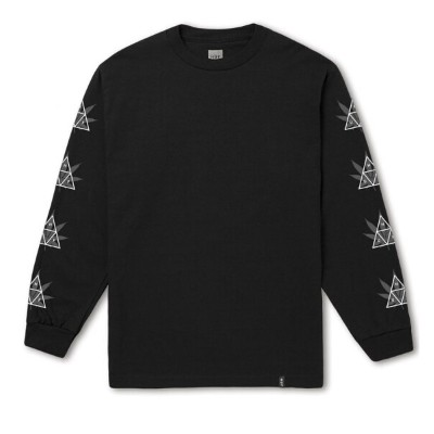 HUF 420 Triple Triangle L/S Shirt Black S Tシャツ 送料無料
