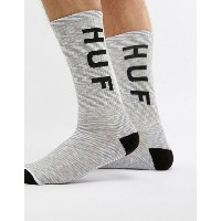 ハフ メンズ 靴下 アンダーウェア HUF Original Logo Socks In White Melange White