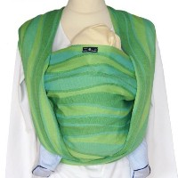 Didymos Baby Carrier Organic Wrap Sling, Waves Lime, Size 5 by DIDYMOS [並行輸入品]