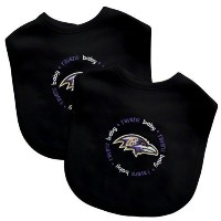 Baby Fanatic Team Color Bibs, Baltimore Ravens, 2-Count by Baby Fanatic [並行輸入品]