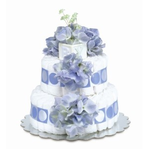 Bloomers Baby Diaper Cake Classic Blue Hydrangea 2-Tier by Bloomers Baby [並行輸入品]