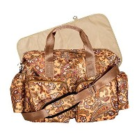 Trend Lab Paisley Brown Deluxe Duffle Diaper Bag, Paisley Brown by Trend Lab [並行輸入品]