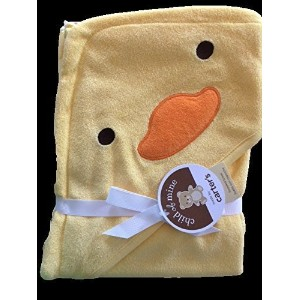 Carter's Duck Ducky Hooded Hoodie Towel Yellow Baby Towel by child of mine [並行輸入品]