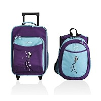 Obersee Kids Luggage and Backpack with Integrated Cooler, Turquoise Butterfly by Obersee [並行輸入品]