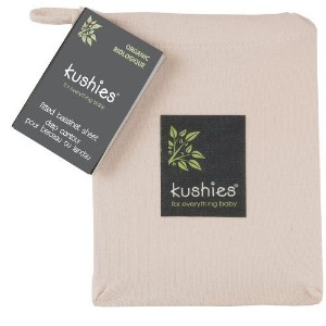 Kushies Organic Jersey Bassinet Fitted Sheet, Mocha by Kushies [並行輸入品]