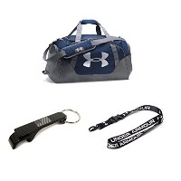 Under Armour Undeniable 3.0MD Duffle Bag w / Lanyard + USA Bottle Opener