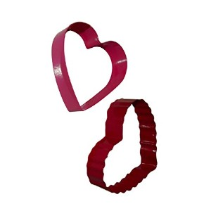 Heart Shaped Cookie cutters- 2Piece Per Package