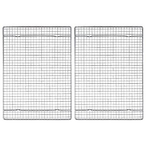 Mrs. Anderson's Baking Professional Half Sheet Baking and Cooling Rack, Heavyweight Chrome, 16.5...