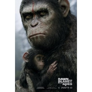 Dawn of the Planet of the Apes映画ポスター2Sidedオリジナル27x 40GARY OLDMAN