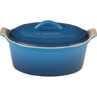 Le Creuset Heritage Stoneware 11/ 5qt Covered楕円形テリーヌ、Marseille