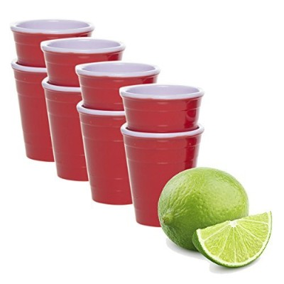 (8) - Drinkmate (8 Pack) Reusable Mini Cups 60ml Red Solo Cup Style Party Shot Glasses Plastic...