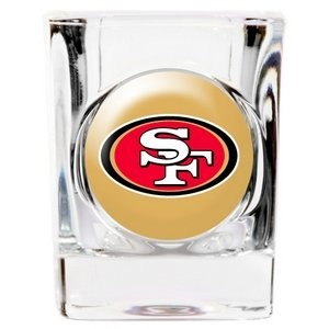 Great American 8900675292 2 oz. San Francisco 49ers Square Shot Glass by Shot Glass