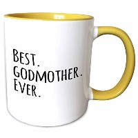 3dローズInspirationzStoreタイポグラフィ–Best Godmother Ever–Gifts for God MothersまたはGodmoms–god mom–...