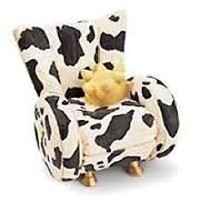 Take a Seat Cow C。1998 by Raine and Willitts Designs