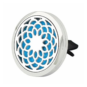 Jenia 30 mm Car Air Freshener Aromatherapy Essential Oil Diffuserロケットwith Ventクリップステンレススチール