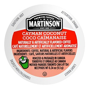 Martinson Coffee, Cayman Coconut, 24 Single Serve RealCups by Martinson