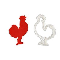 Rooster動物クッキーカッター LARGE - 4 Inches
