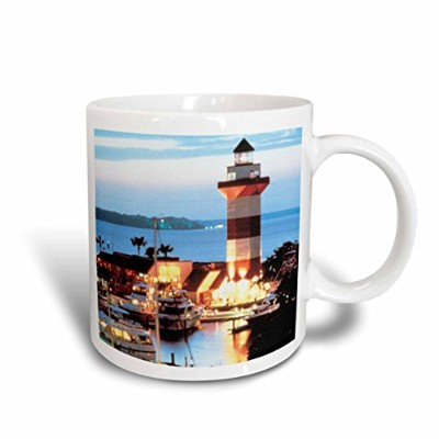 (330ml) - 3dRose Harbour Town Lighthouse at Hilton Head Island at Dusk, Ceramic Mug, 330ml
