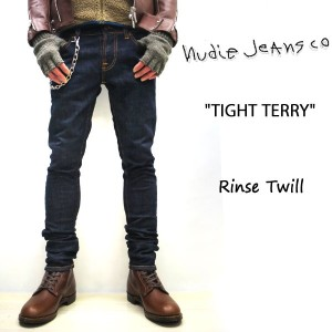 2017FW☆ NUDIE JEANS ( ヌーディージーンズ )スキニーフィット TIGHT TERRY [ RINSE TWILL ] (807) / タイトテリー 46161-1020 SKU...