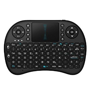 BlueBeach 空中で使用されるワイヤレスマウス 充電式 2.4GHz 無線 Air Mouse + タッチパッド + QWERTY Keyboard キーボード セット TV /...