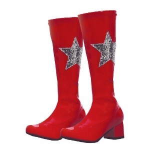 Ellie Shoes E-175-Star 1 Heel Gogo Boot With Star Children S / Red