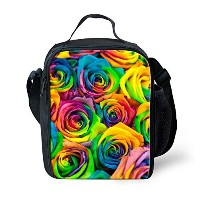 instantarts FloralランチバッグInsulated withストラップLunchbox Cooler 24x19x8CM P-C0121G