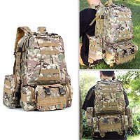 Tacticalバックパック、Bienna 3 Day Military組み合わせリュックサック55l Large 800dナイロン[防水] Assault Pack Combatバッグスポーツアウト...