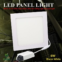 LEDパネルライト 6w Square Panel Light 6w-S-WW