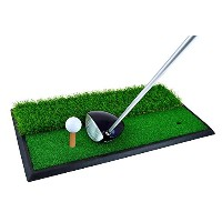 dual-surface Golf Hitting /練習用マット、クリスマスギフト、Chippingと駆動ゴルフスイングマットAids Roughフェアウェイウッドサーフェスwith a...