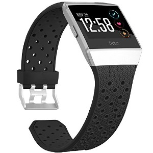 For Fitbit Ionic帯、Skyletソフト通気性アクセサリーWristbands for Fitbit Ionicブレスレットwith Buckle (トラッカーなし)