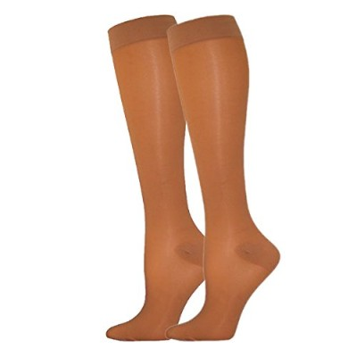 Compression Stocking 30-40mmHg Graduated, Beige, Knee High Closed Toe, Size Large - By Levrexim by...