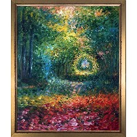overstockArt La Pastiche The Undergrowth in the Forest of saint-germain 1882byクロード・モネwith...