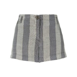 Giorgio Armani Vintage striped mini shorts - グレー