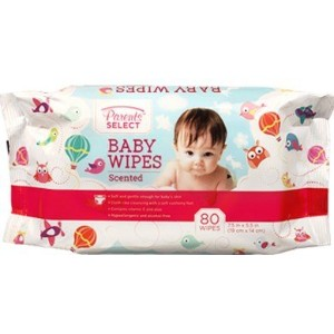 Scented Baby Wipes in a Resealable Pack- Bulk Case of 12 by Coralite