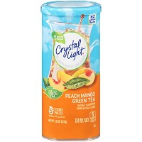 Crystal Light Green Tea Peach Mango Drink Mix (Makes 10-Quarts), 1.85 Ounce Canisters (Pack of 12)...