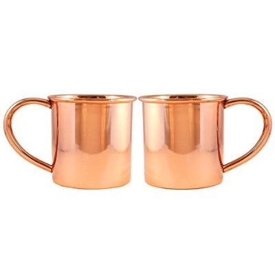 (410ml, Classic) - Copper Mugs for Moscow Mules - Set of 2-100% Pure Copper Moscow Mule Mugs - 410ml