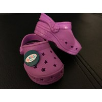 Doll Clothing Slippers for American Girl And Other 18 Inch Dolls - Hot Pink Clog Sandals and Garden...